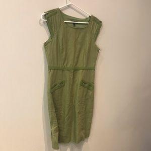 Dresses & Skirts - Green Linen Blend Dress by Spence. Size 6